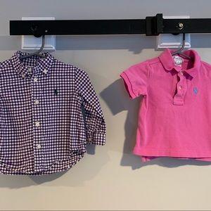 Ralph Lauren: 2 baby boy shirts / 9 months